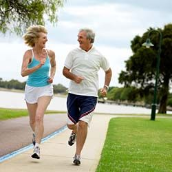 Middle aged people jogging and changing their lives