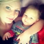 Kim with my grandson, Hayden