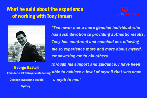 Testimonial for Tony Inman by George Bastoli