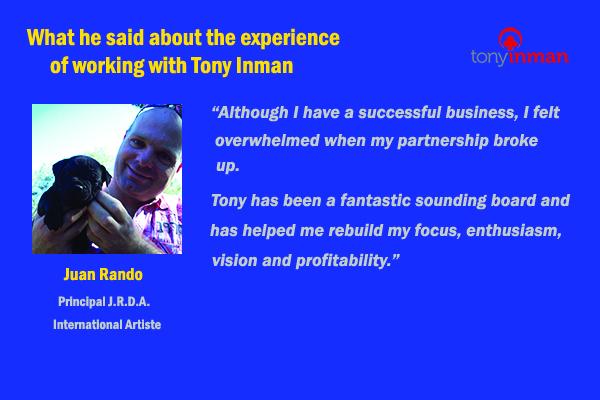 Testimonial for Tony Inman by Juan Rando