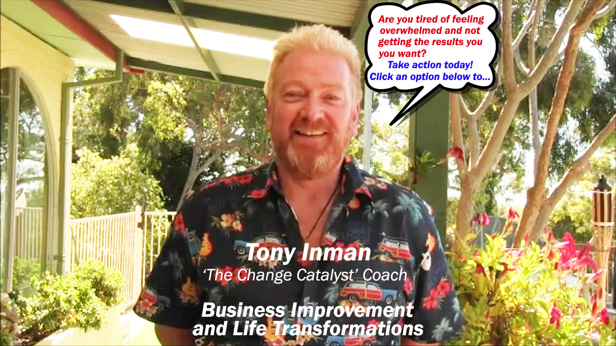 Break through overwhelm and get the results you want with Tony Inman
